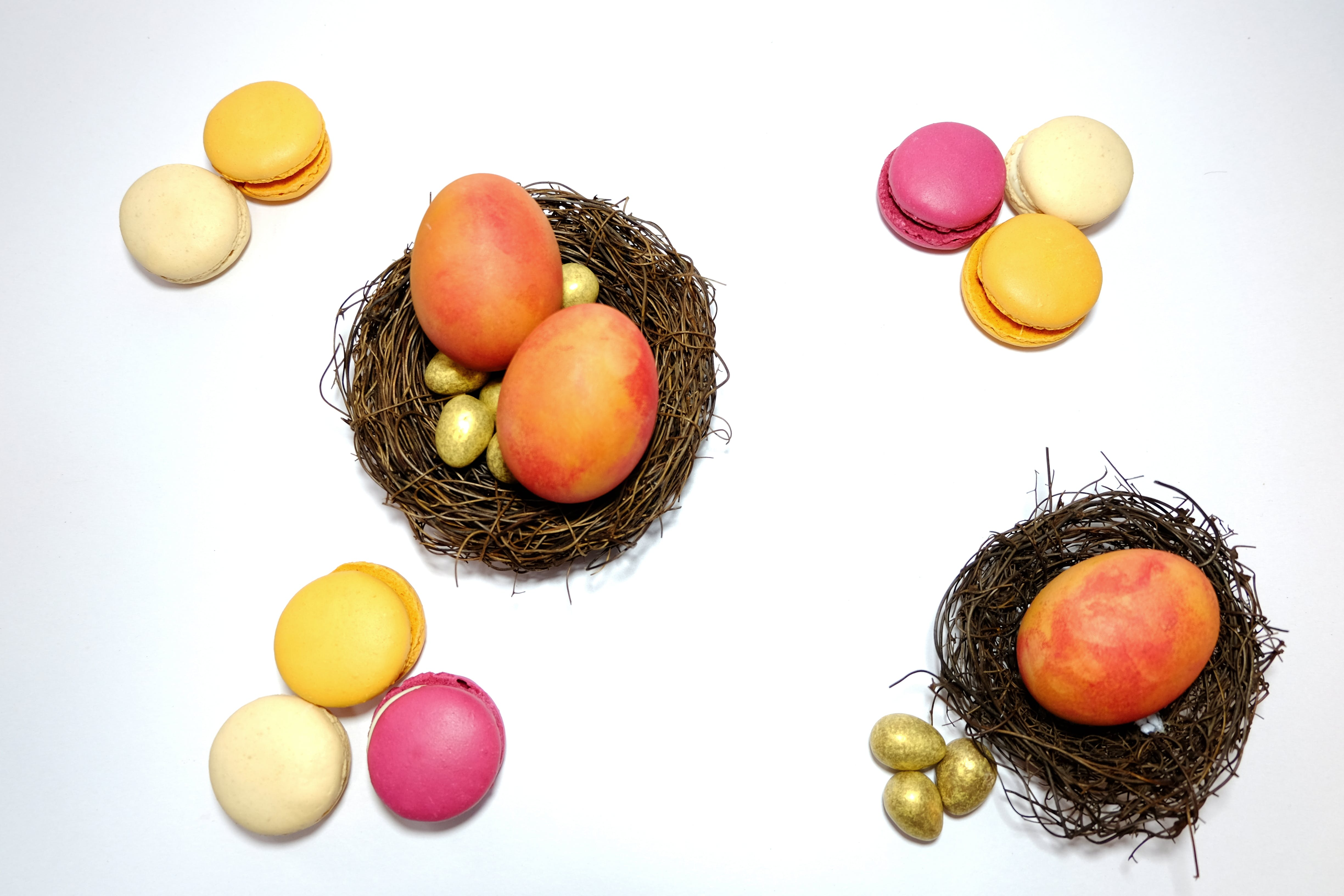 Free stock photo of easter, egg, flatlay, gold