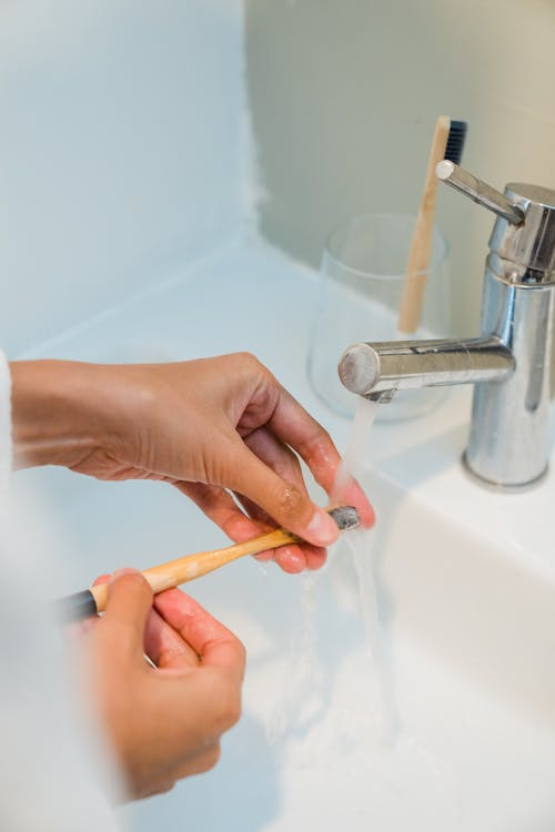 Free stock photo of adult, bathroom, brush
