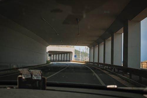 Free stock photo of tarmac road, tunnel