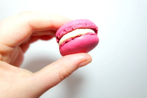 Person Holding Macaroon
