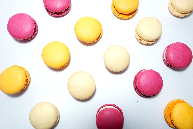 お菓子, フラットレイ, フード, マカロンの無料の写真素材
