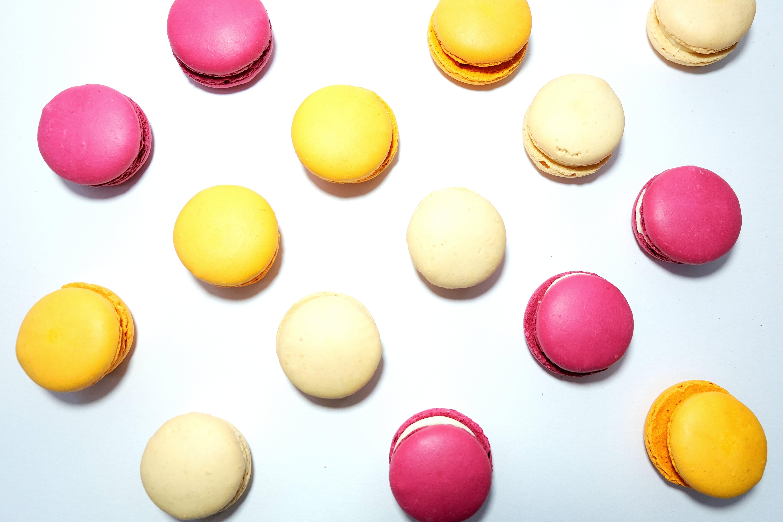 Free stock photo of cream, cute, dots, flatlay