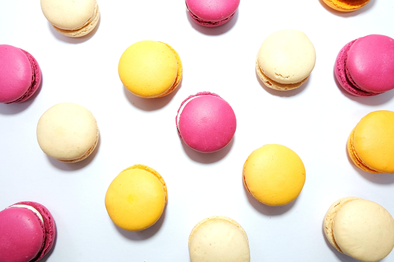Kostenloses Stock Foto zu dessert, essen, flatlay, makronen