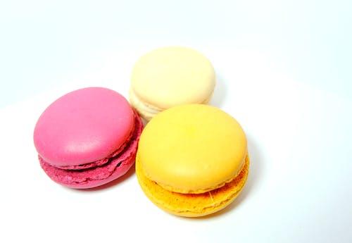 Free stock photo of cream, macarons, macaroons, orange
