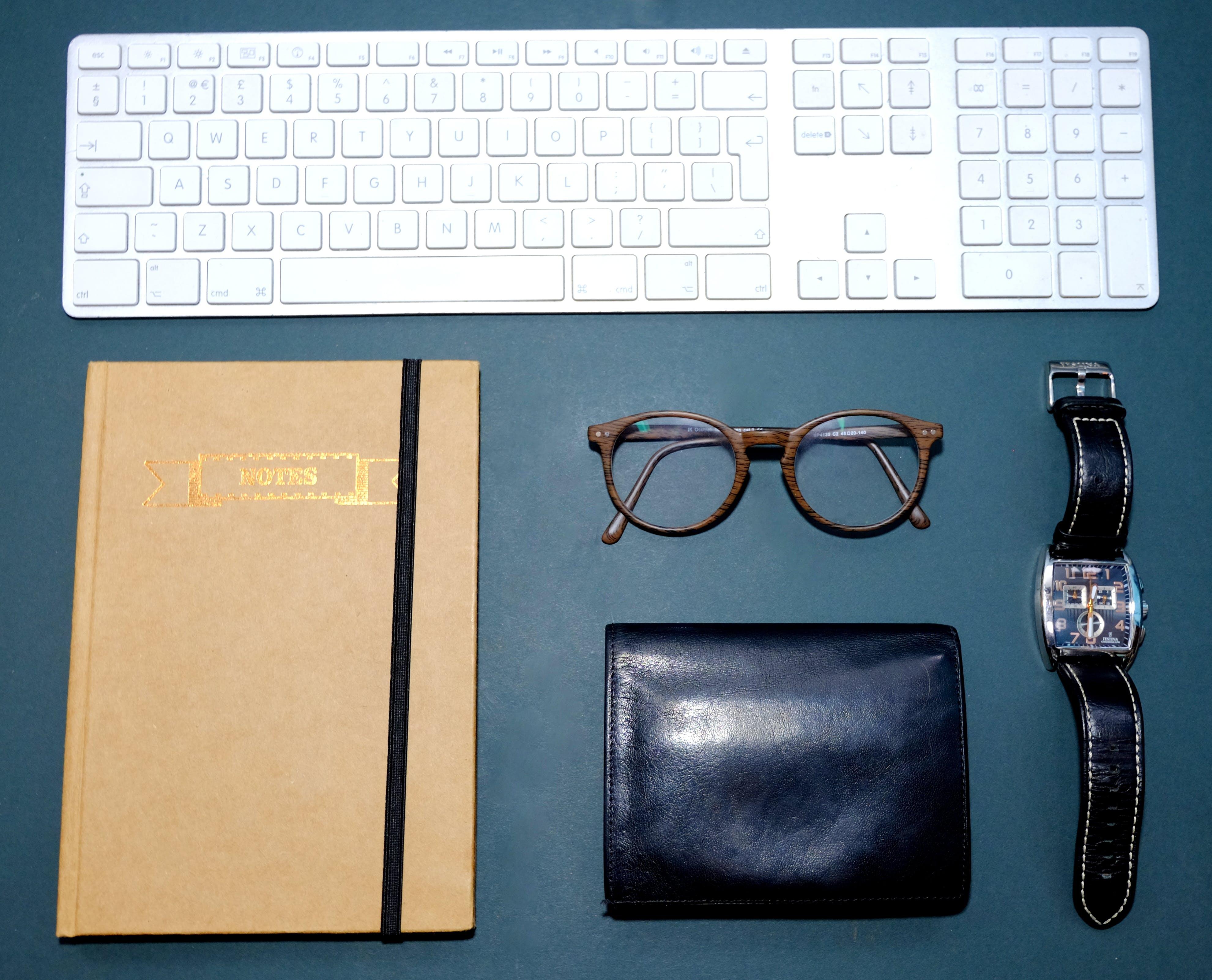 Free stock photo of blue, dark, flatlay, glasses