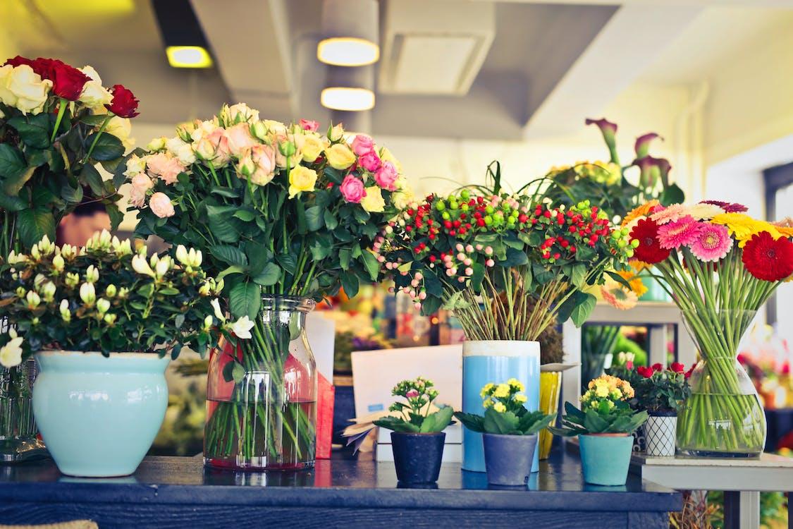 blomster, blomsterarrangement, blomsterblad