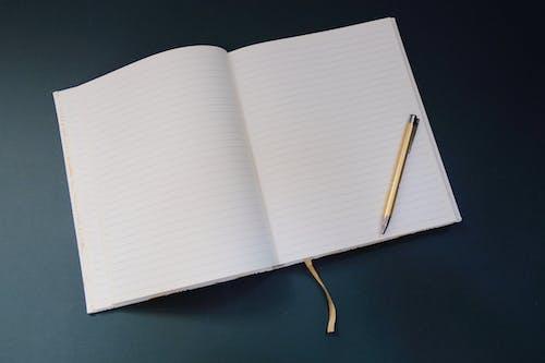 Free stock photo of blue, classy, flatlay, notepad