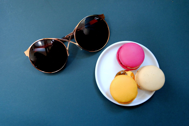 Free stock photo of blue, sun, glasses, gold