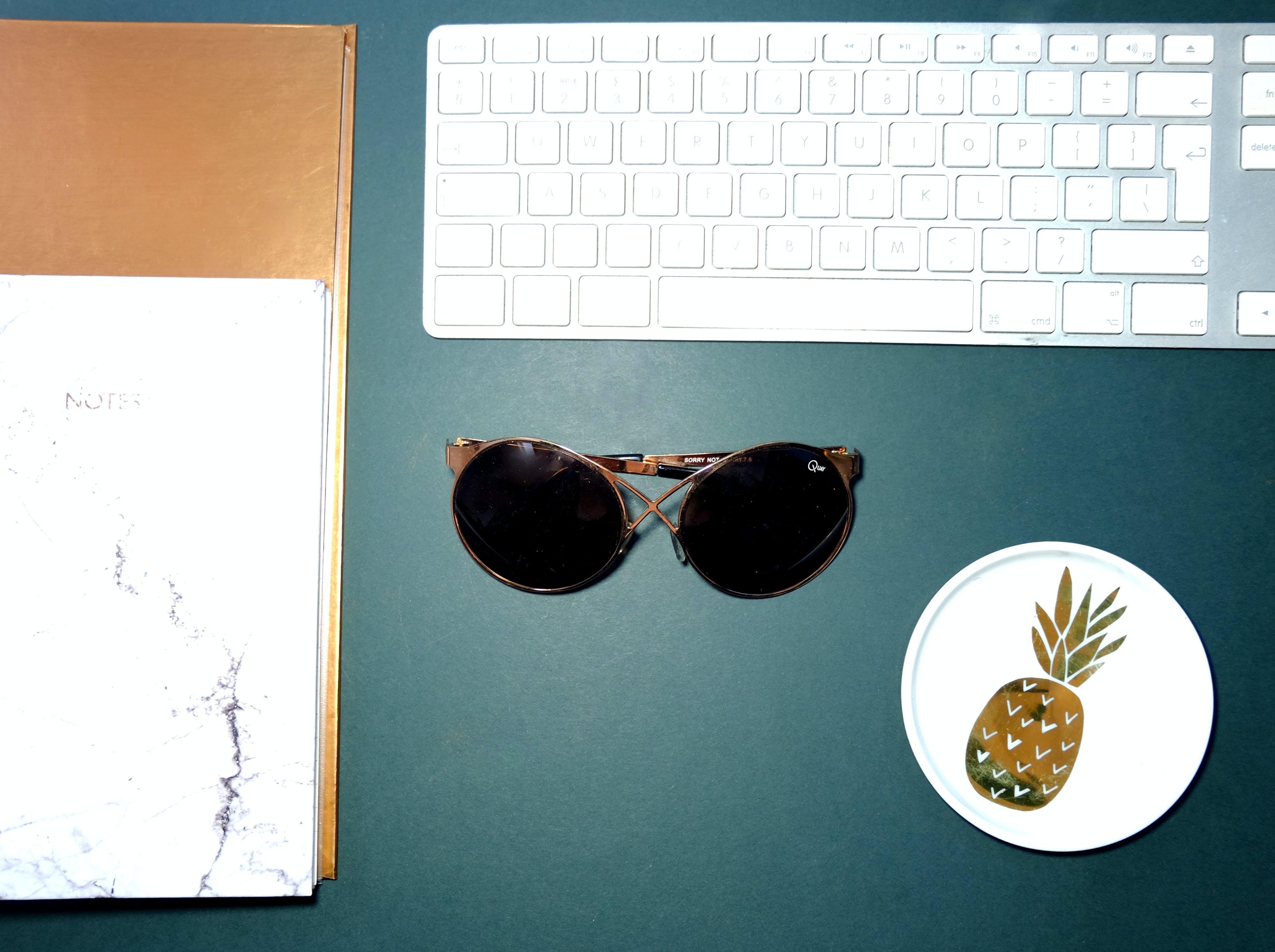 Free stock photo of apple keyboard, blue, classy, flatlay