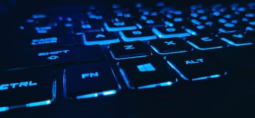 Free stock photo of blue, gamer, keyboard