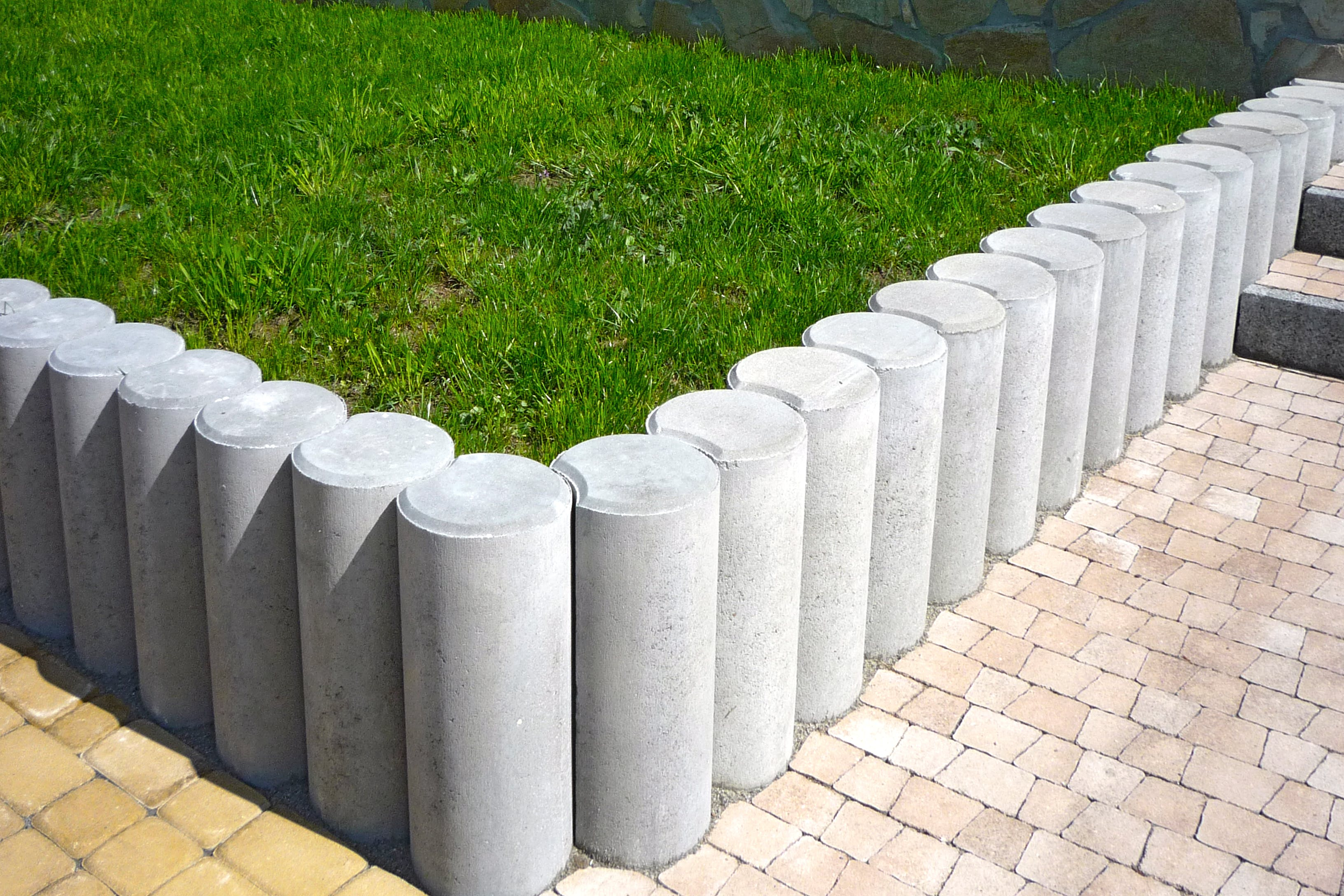 Gray Concrete Bollards