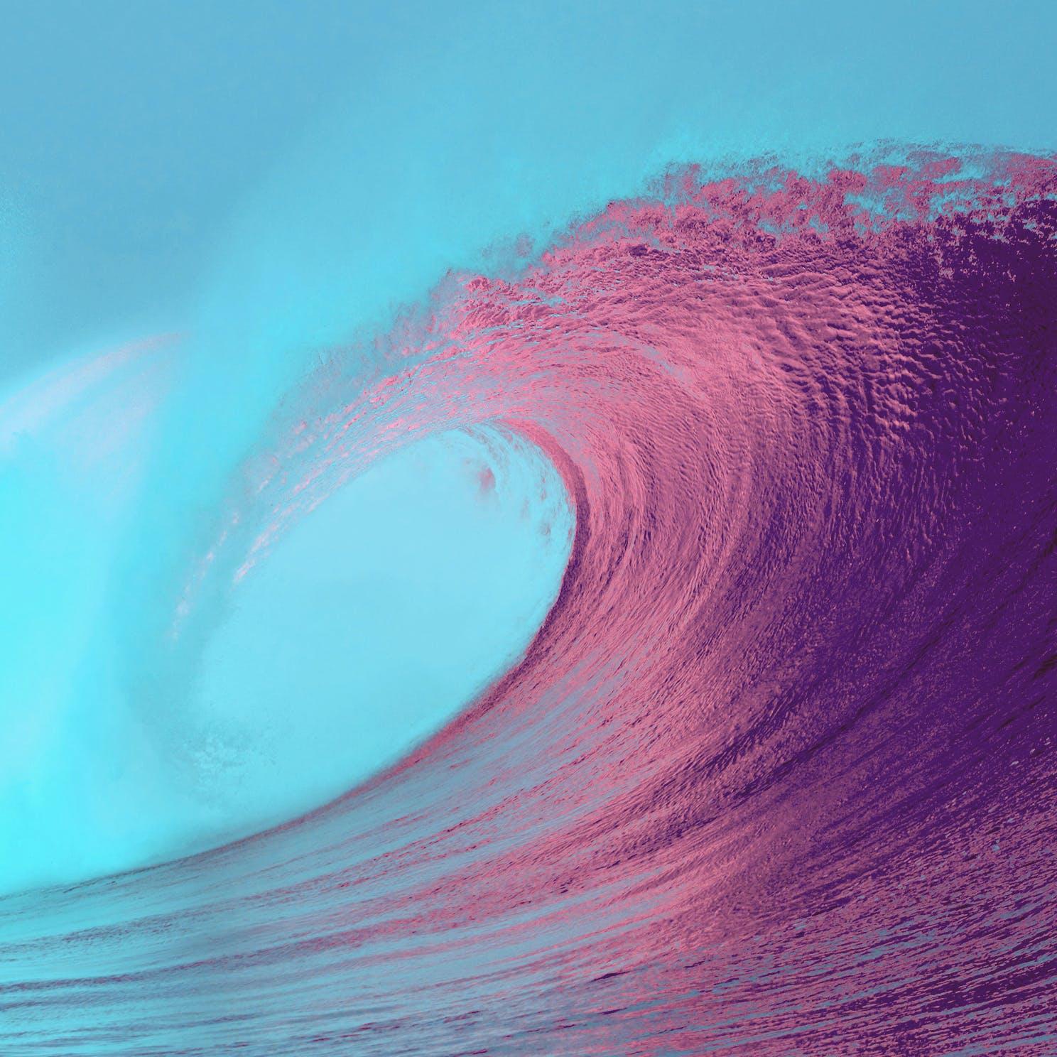 Kostenloses Stock Foto zu kunst, wasser, welle, farben