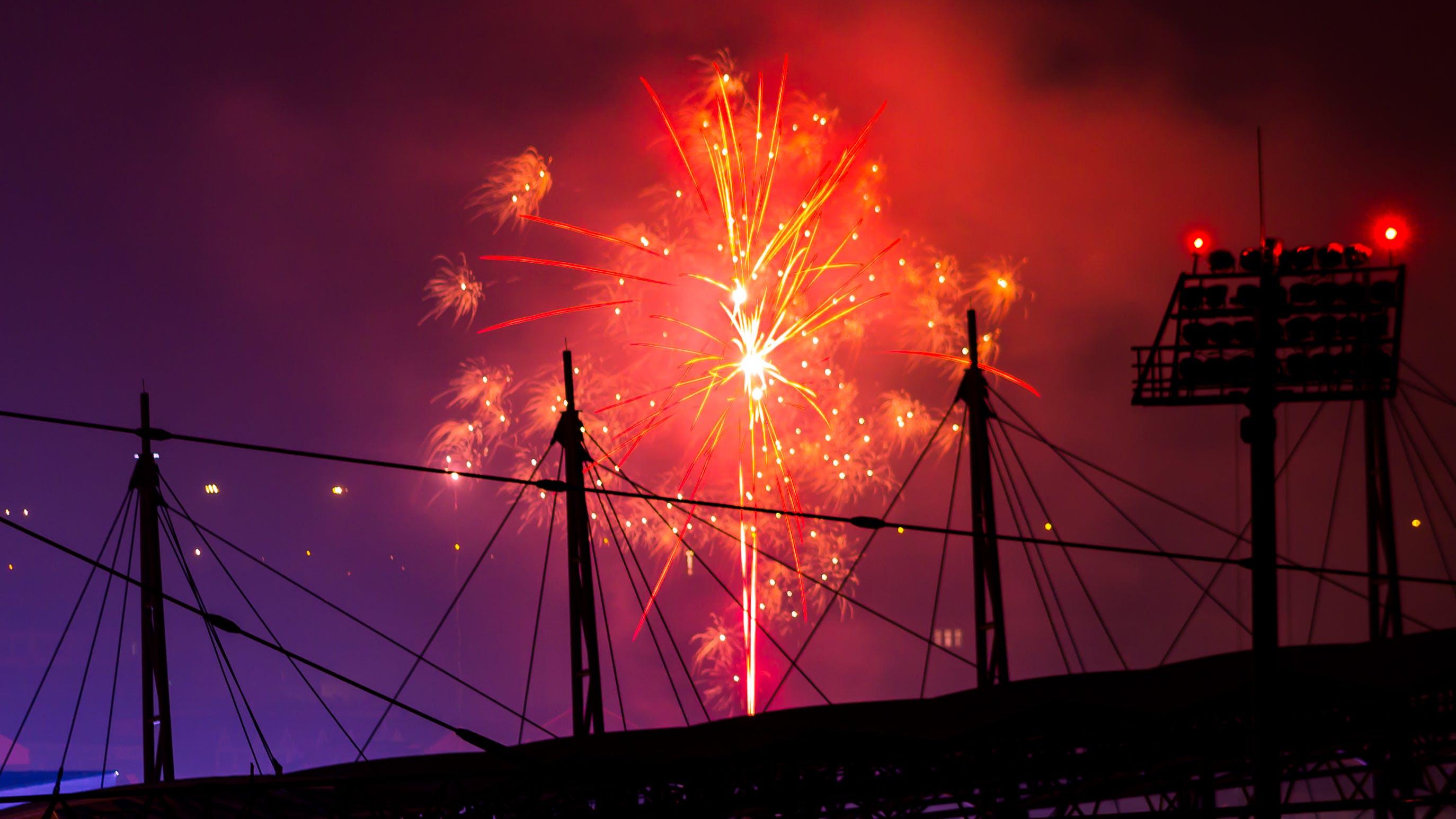 Δωρεάν στοκ φωτογραφιών με απόγευμα, βραδινός ουρανός, γιορτή, έκρηξη