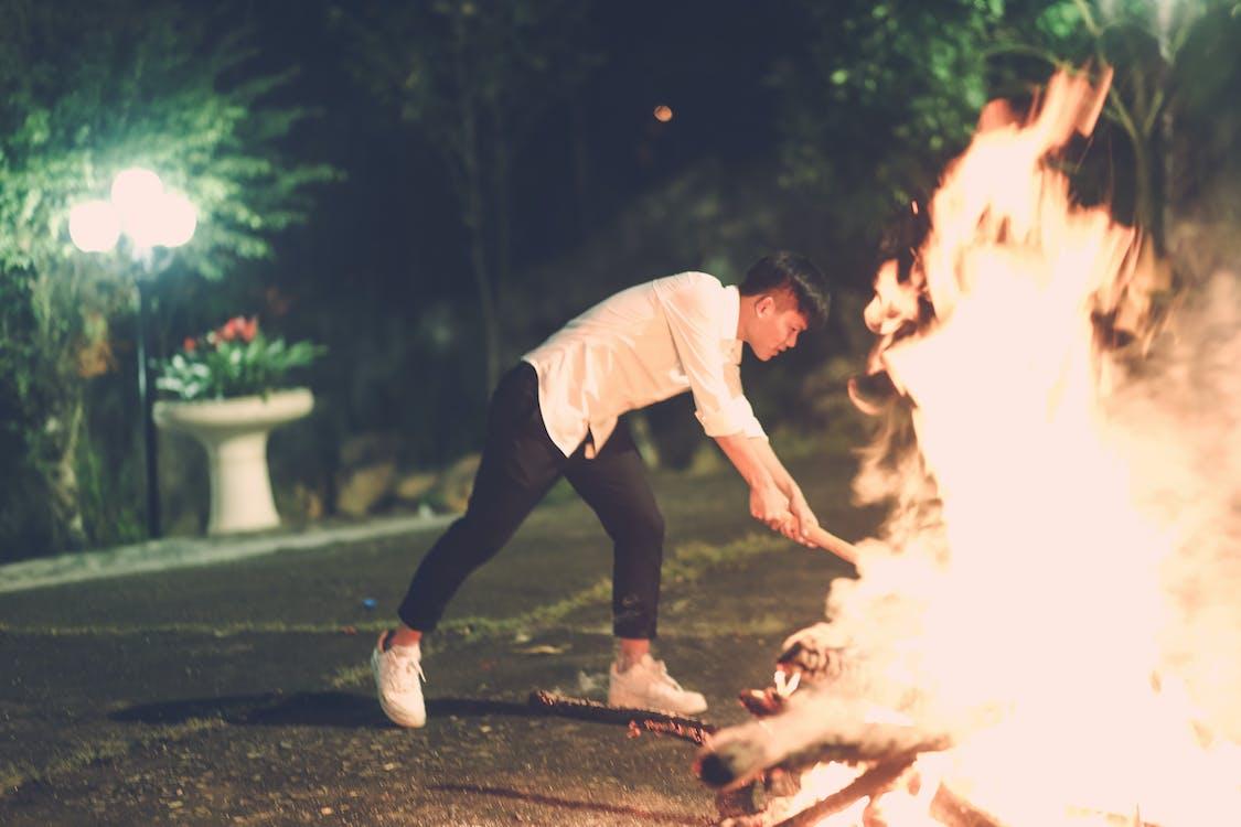 beau, brûler, charmant
