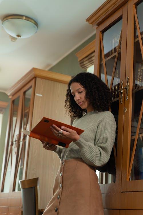 Foto stok gratis belajar, berambut cokelat, buku-buku