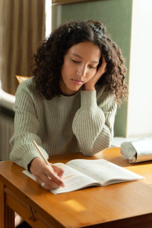 Foto stok gratis belajar, buku-buku, dalam ruangan