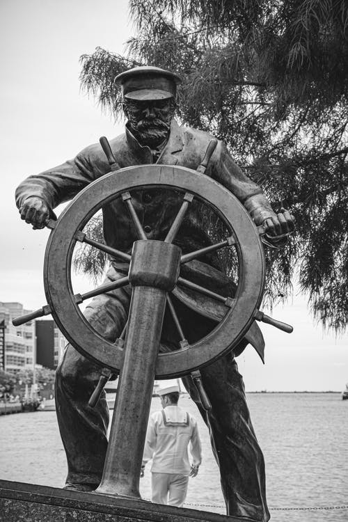 The Captain on the Helm Sculpture in Chicago, Illinois