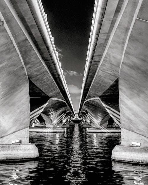 Ilmainen kuvapankkikuva tunnisteilla arkkitehtuuri, Betoni, esplanadin silta, joki