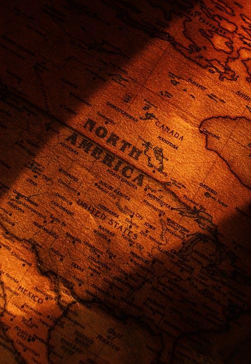 Gratis arkivbilde med brun, kart, nærbilde