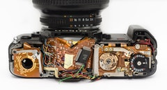 camera, broken, photography