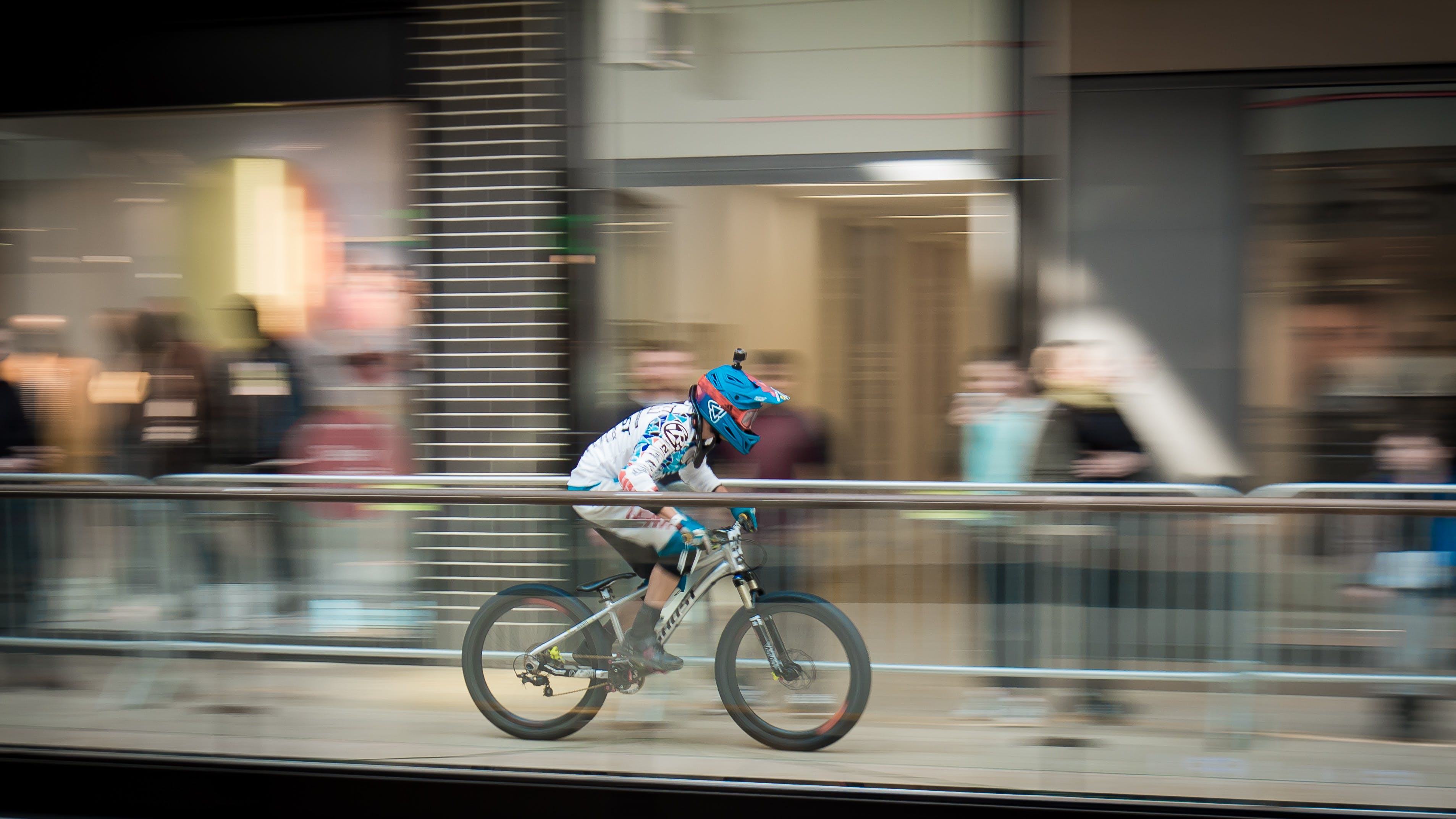Time-lapse Photography of Man Riding Bicycle