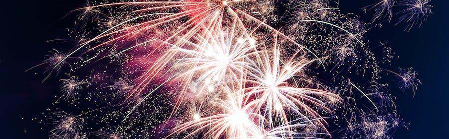 Photo of bright, celebration, explosion
