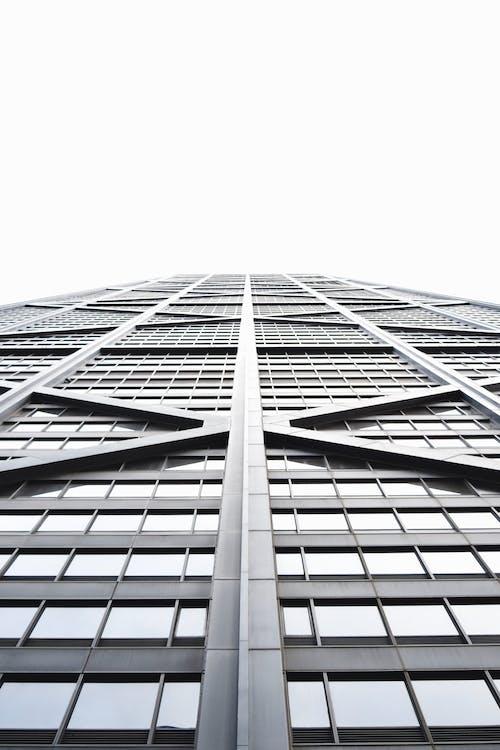 Foto d'estoc gratuïta de acer, arquitectura, blanc, cel