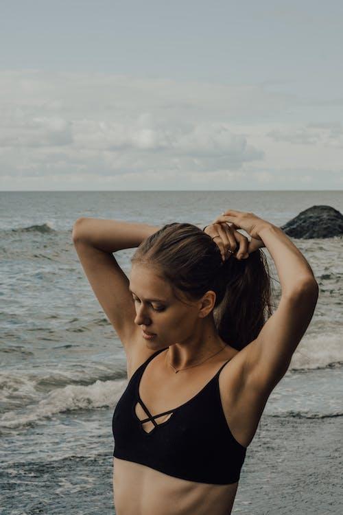 Free stock photo of background, beach, beautiful girl