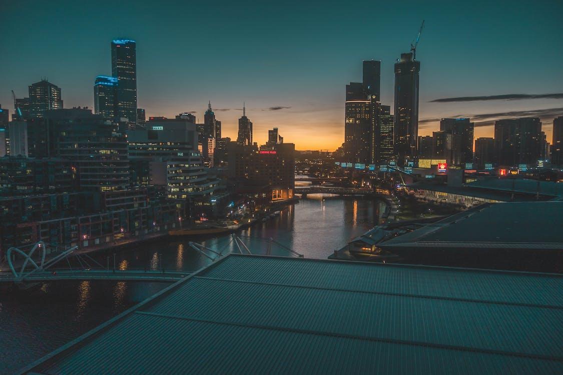 City Buildings during Sundown