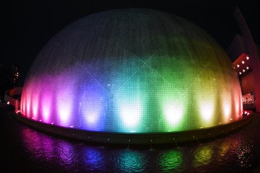 Turned on Multicolored Led Lights