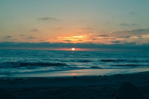 Darmowe zdjęcie z galerii z lajolla, plaża, sandiego, zachód słońca