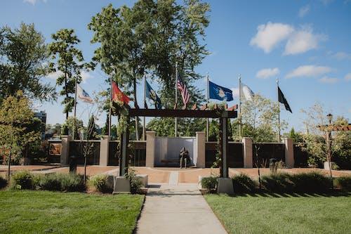 Gratis lagerfoto af amerikansk-flag, mindesmærke, sky