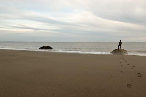 Free stock photo of alone, beach, footprints