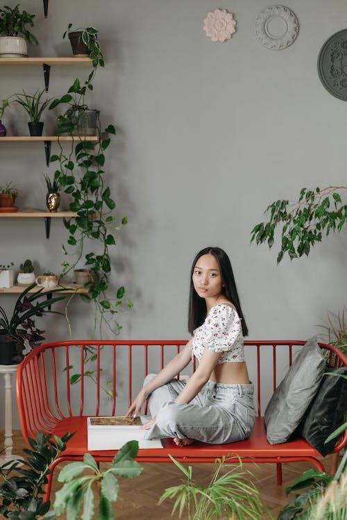Foto profissional grátis de adulto, chão de madeira, dentro de casa