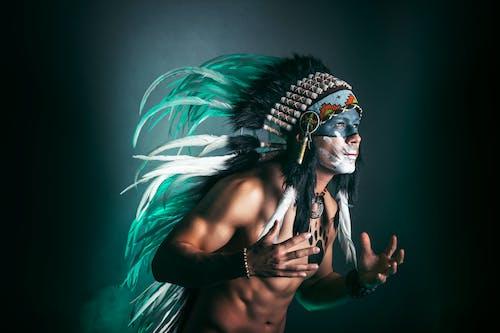 Základová fotografie zdarma na téma indický, malování na obličej, model, muž