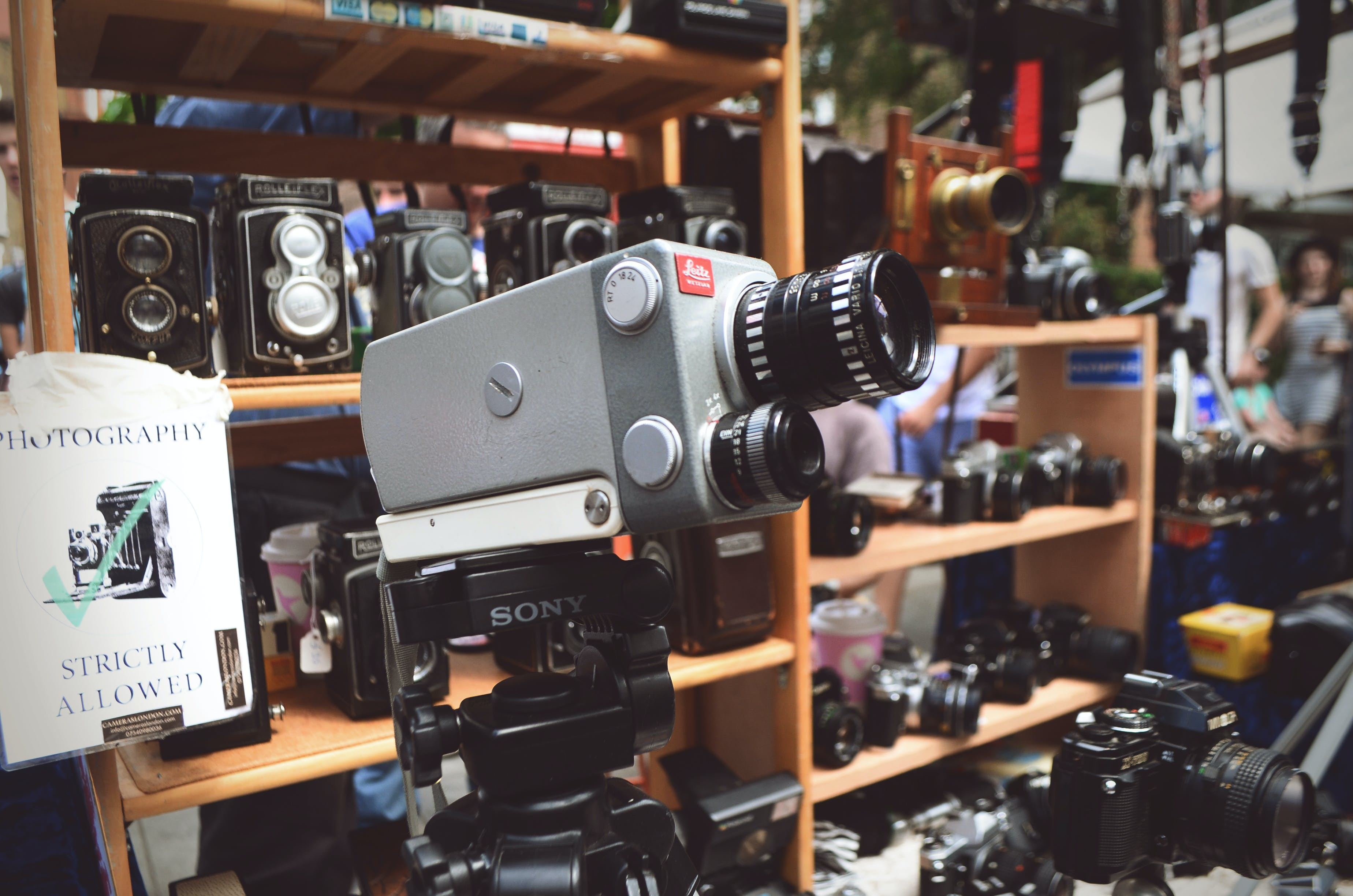 Black and Gray Sony Video Camera
