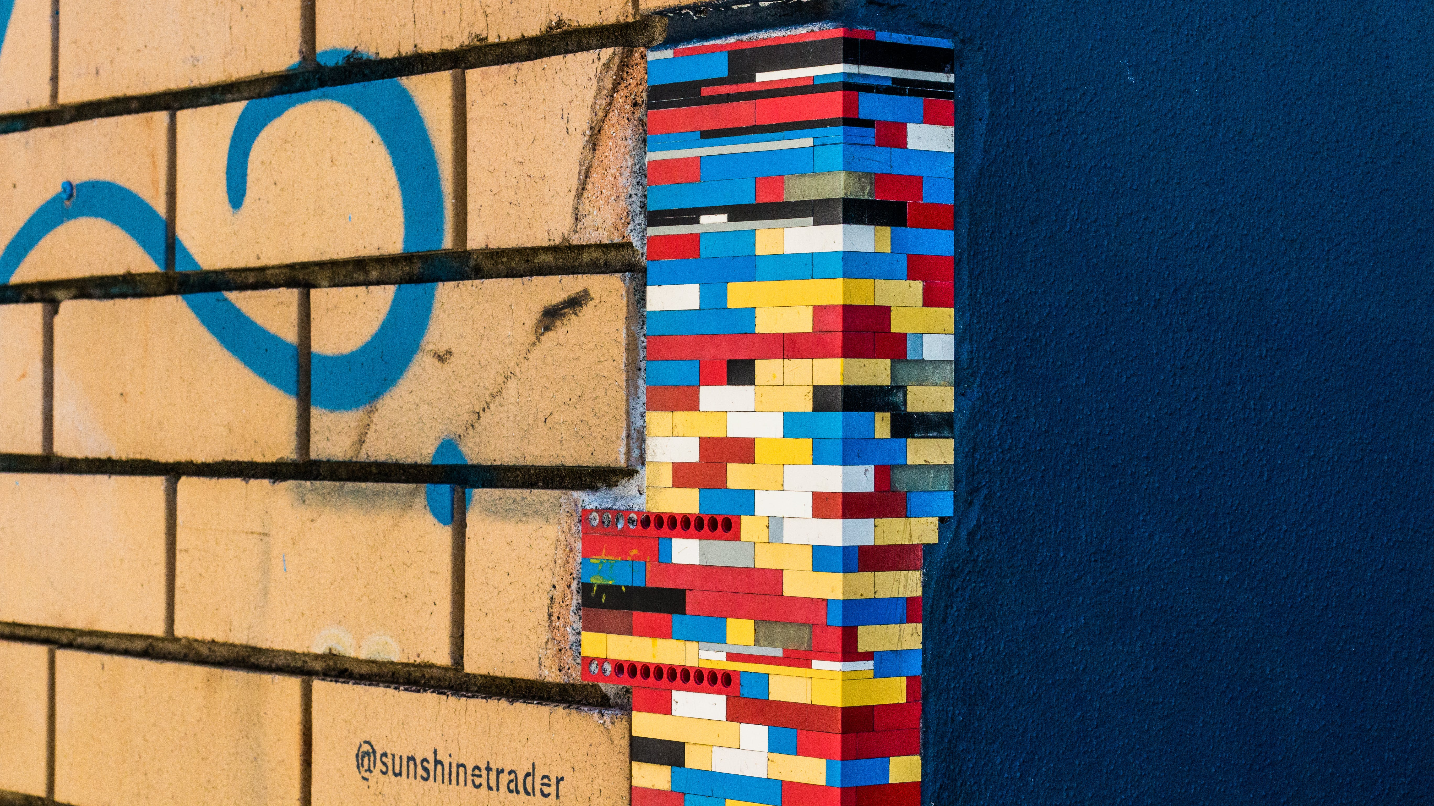 Free stock photo of lego, minimalism, streetphotography, wall
