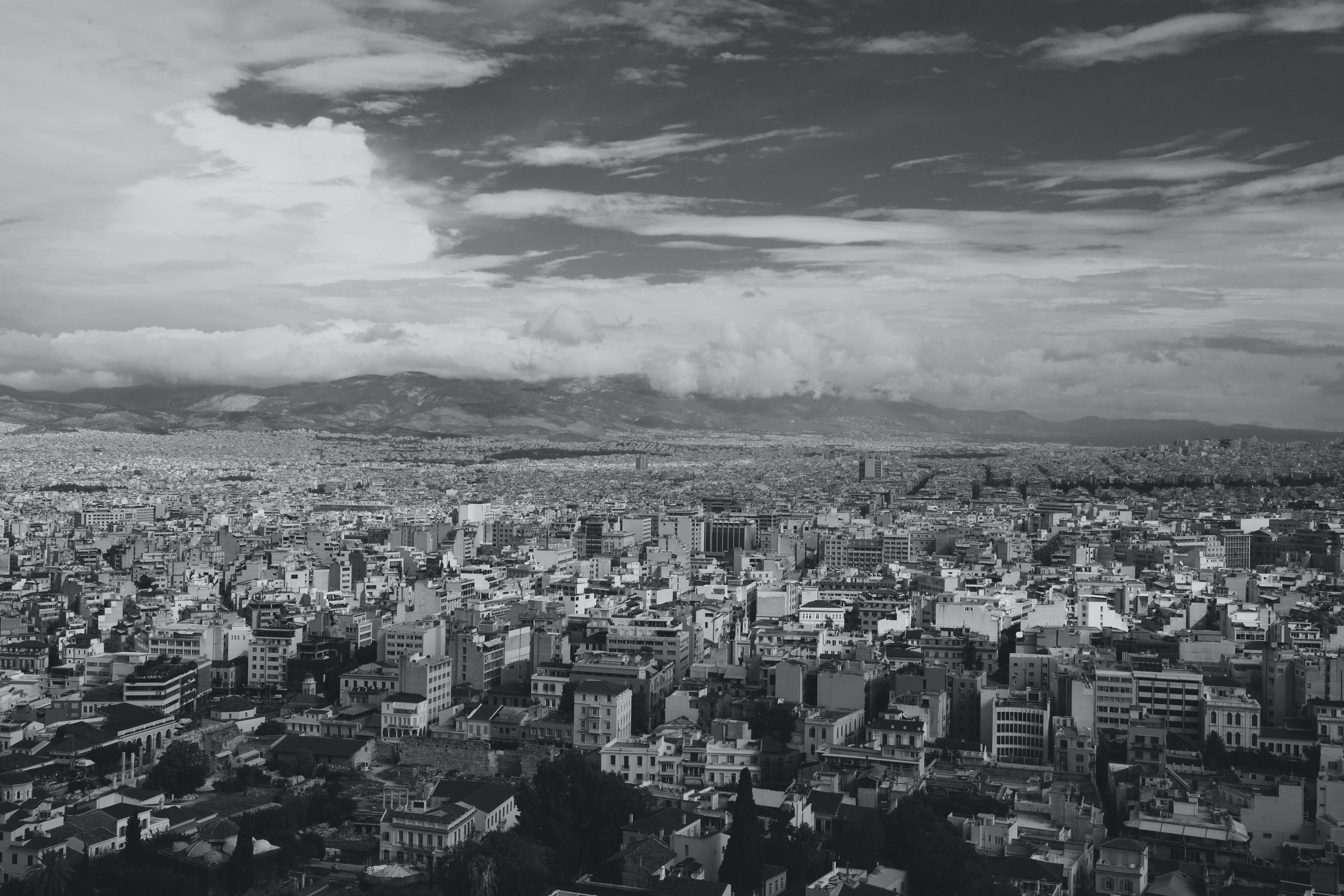 Monochrome Photography of City