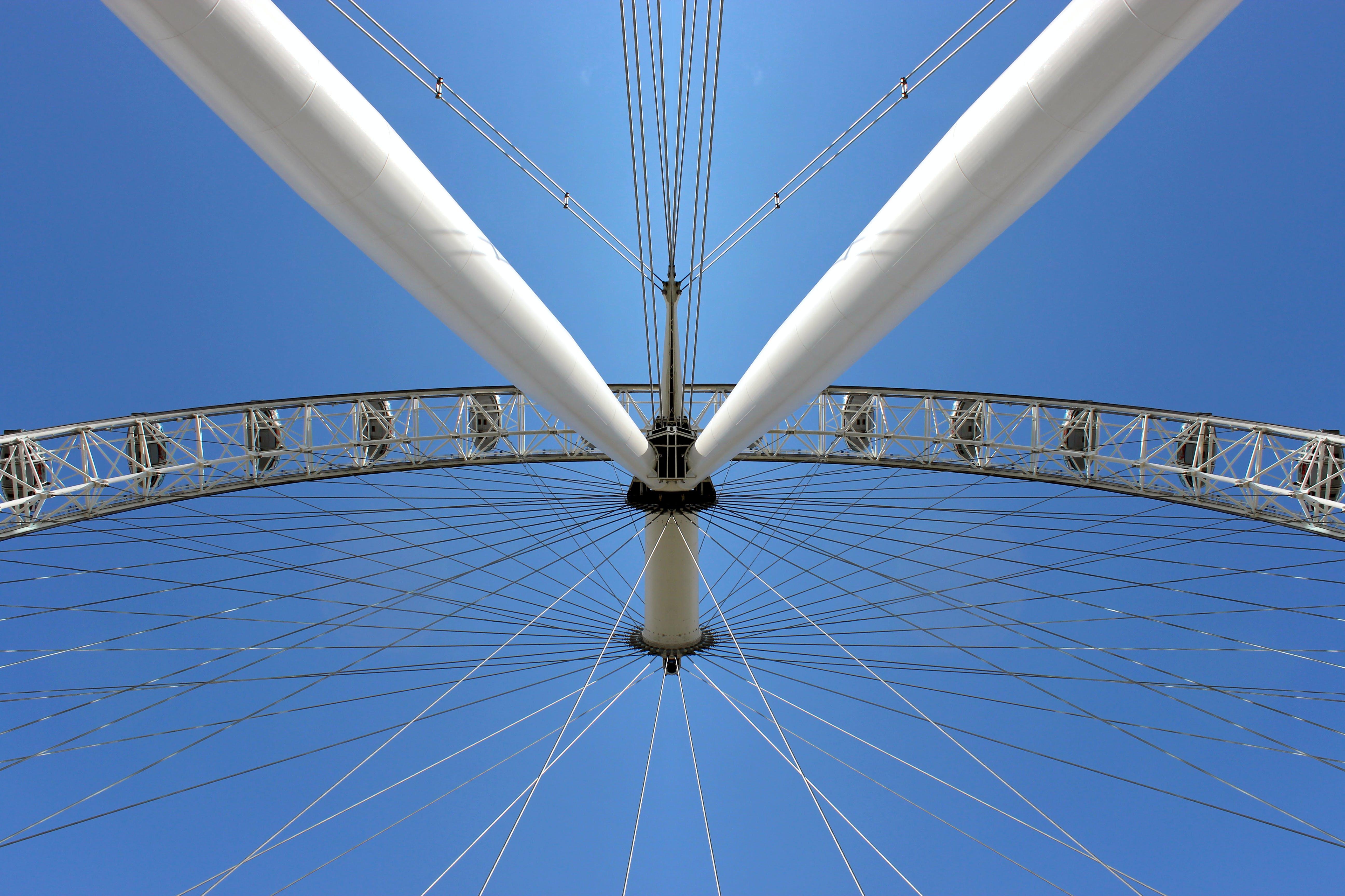 Free stock photo of angel, big wheel, blue sky, britain