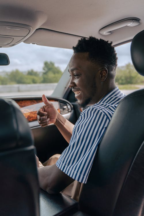 Free stock photo of adult, african american man, car