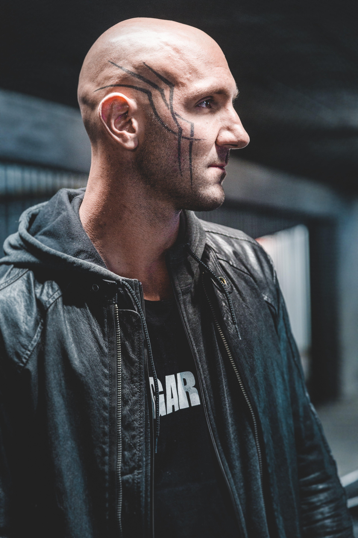 Man Wearing Black Hooded Jacket