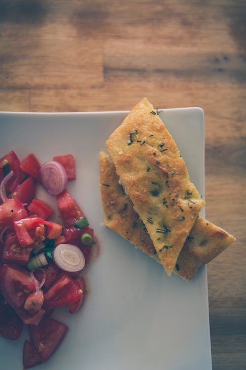 Free stock photo of bread, focaccia, food, herbs