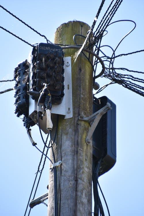 Free stock photo of communications, pole, telegraph pole