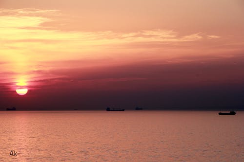 Free stock photo of beautiful, evening sun, sea