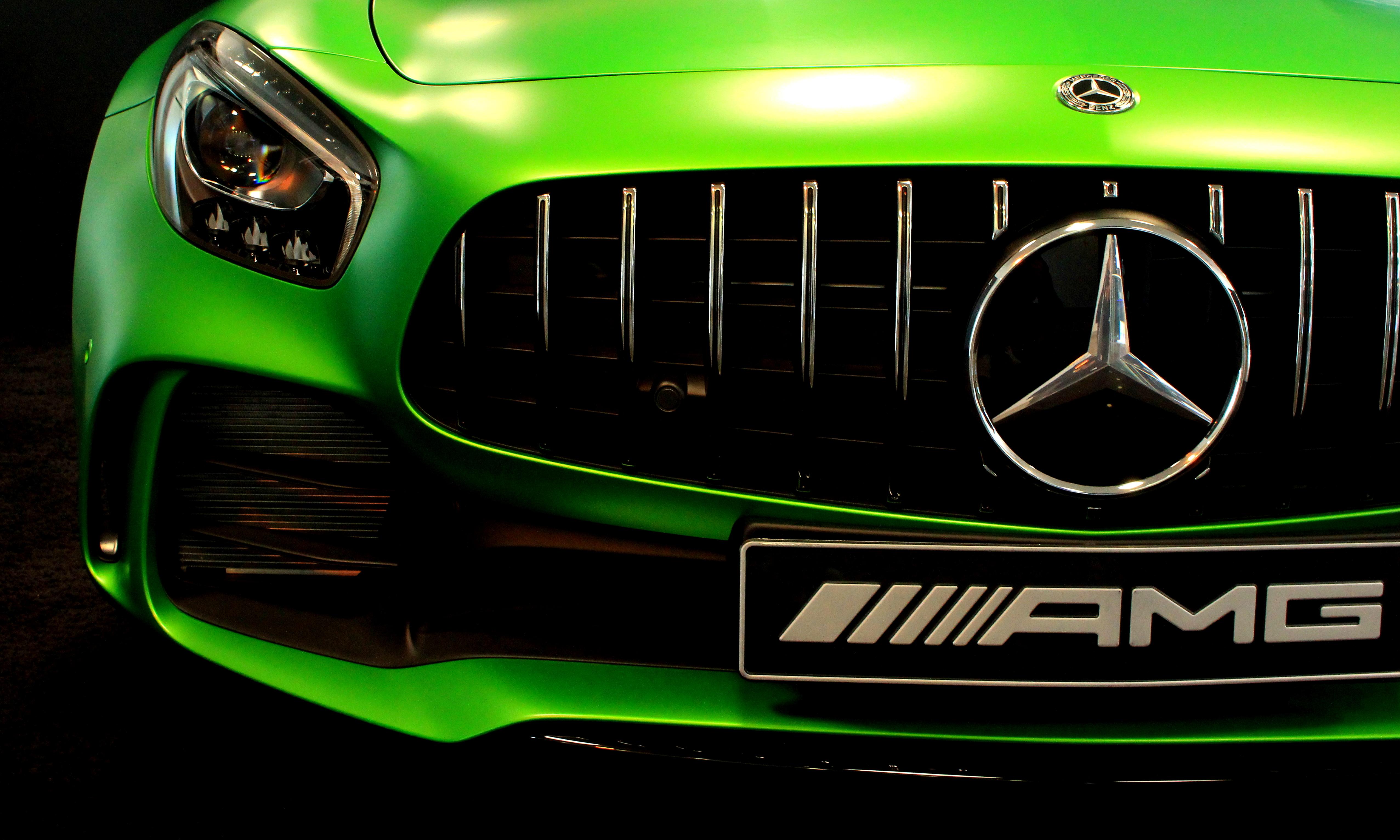 Green Mercedes-benz Amg
