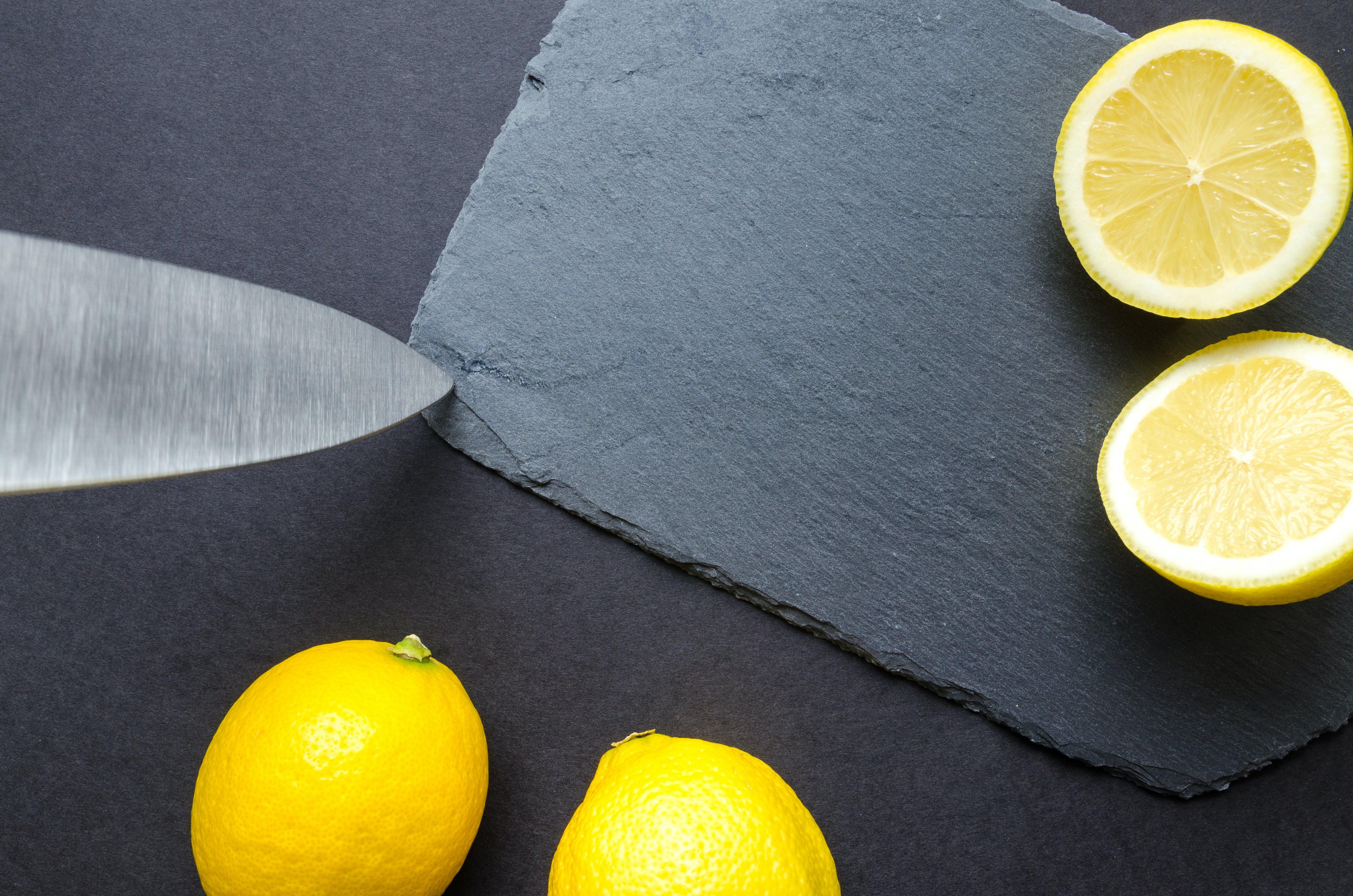 Flatlay Photography of Sliced Lemons