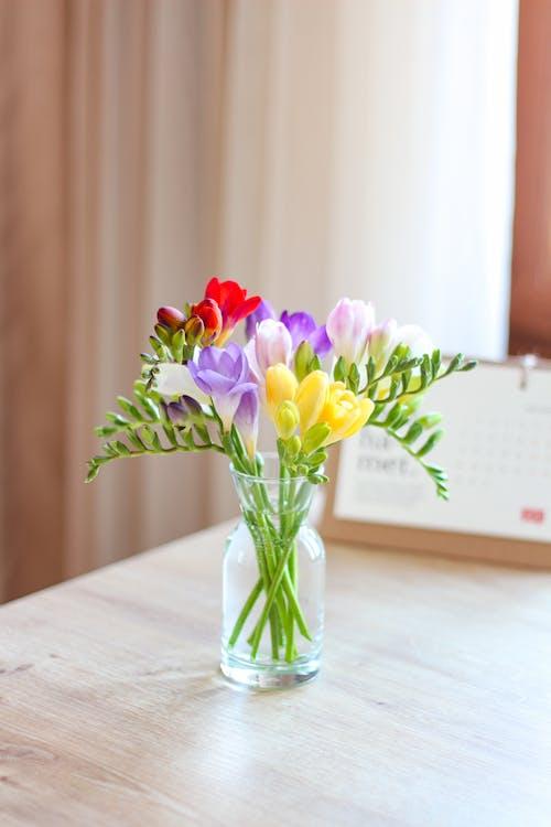 Безкоштовне стокове фото на тему «Букет квітів, Вибірковий фокус, всередині»