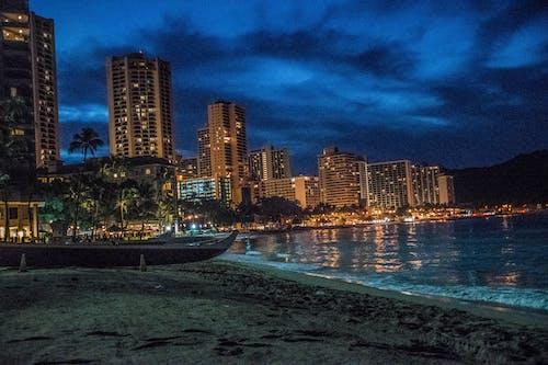 Fotos de stock gratuitas de Hawai, hawaiano, Luces de la ciudad, noches de la ciudad