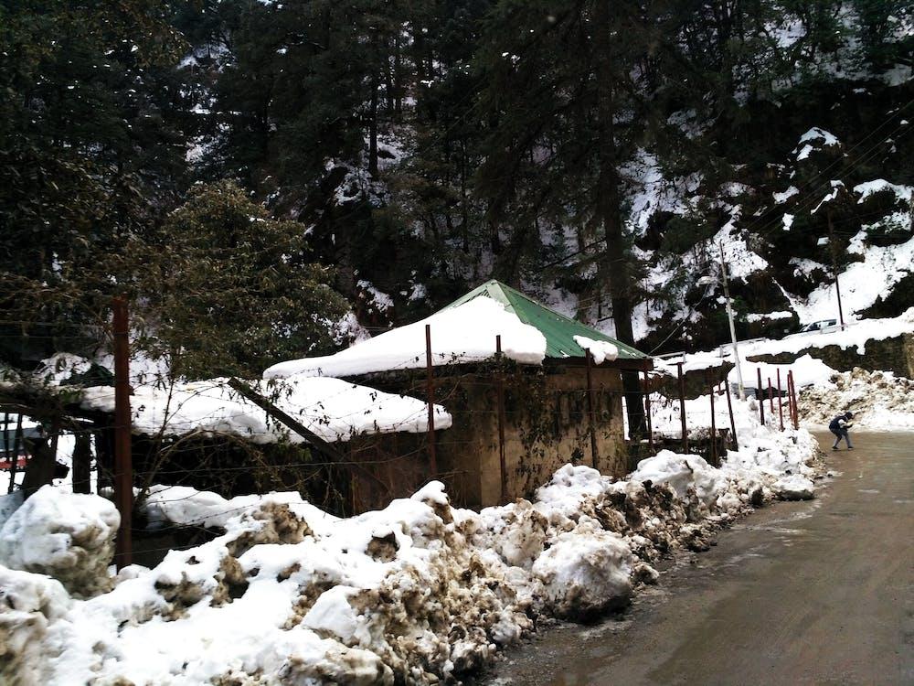 Hindistan, kar, karla kaplı