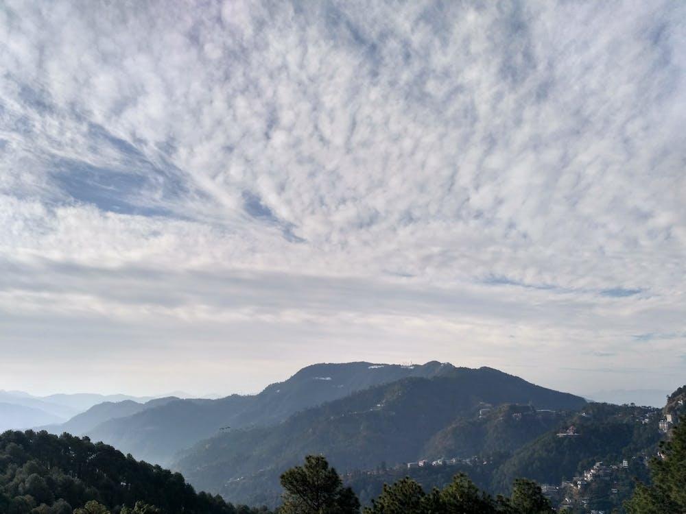 блакитне небо, гора, матір-природа
